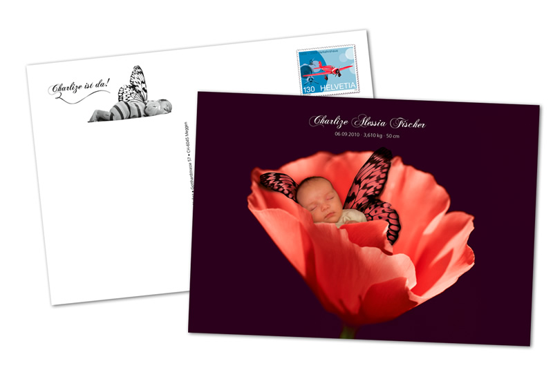 Gestaltung Geburtskarte