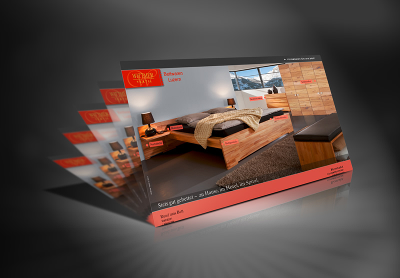 Gestaltung Website Wittmer Textil