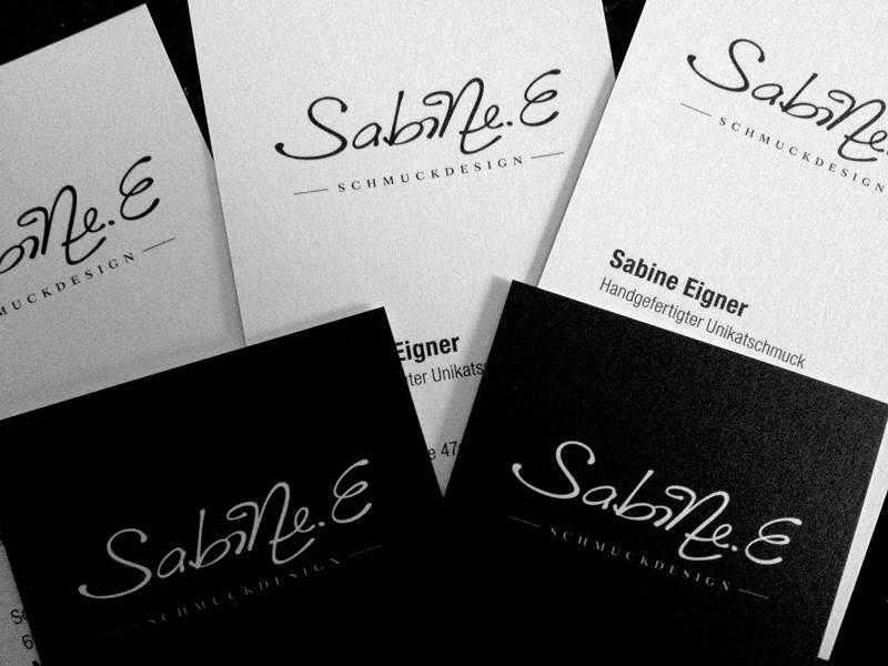 Layout für Visitenkarte Sabine.E