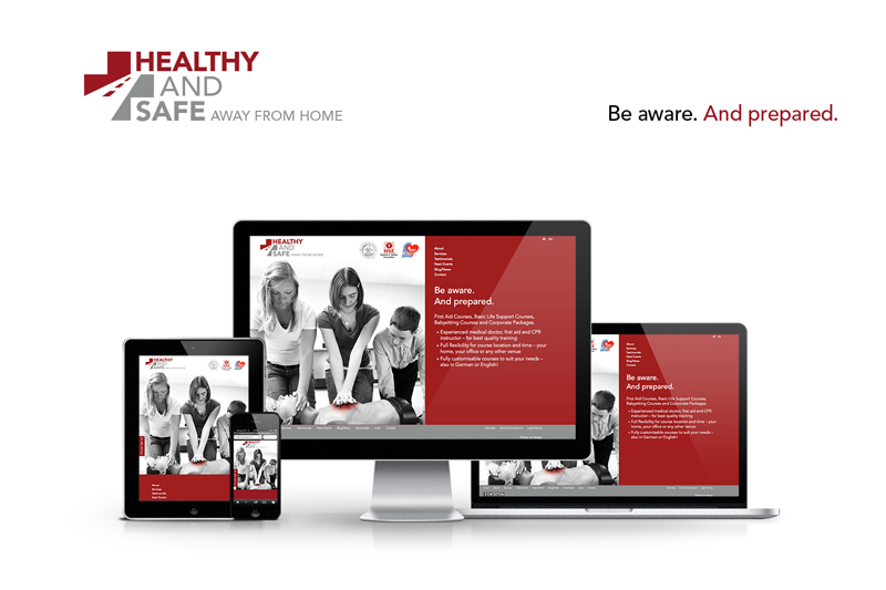Gestaltung Homepage Healthy and Safe